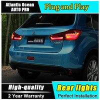 Автомобиль Стайлинг для Mitsubishi ASX задние фонари 2013 2015 для ASX светодиодный фонарь задний противотуманный света DRL + тормоз + park + Сигнальные огни