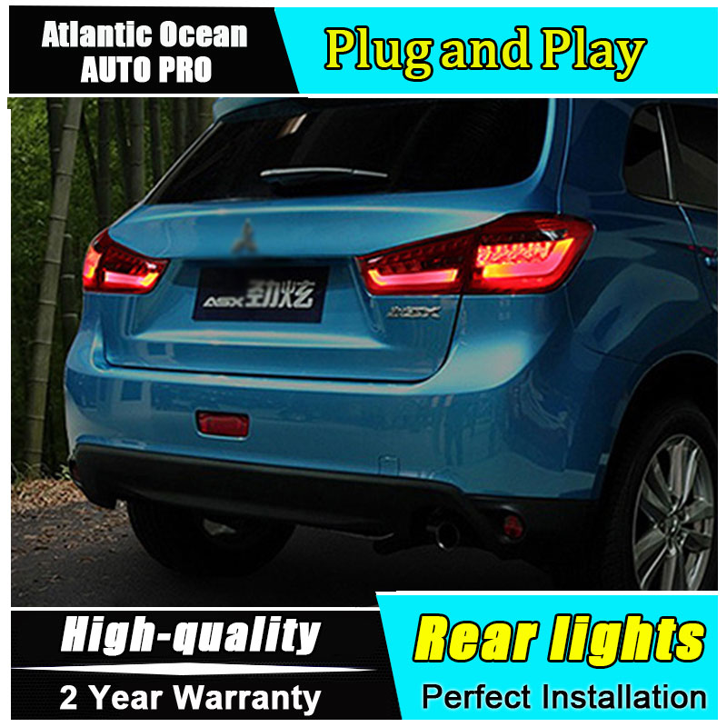 Car Styling for Mitsubishi ASX Taillights 2013-2015 for ASX LED Tail Lamp Fog Light DRL+Brake+Park+Signal lights led auto car led number license plate lights lamp bulb car styling xenon white for mitsubishi asx vehicles tail rear lamp
