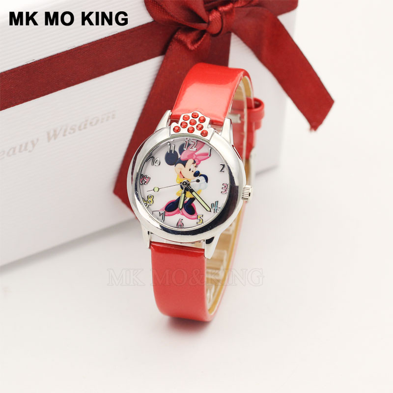 High Quality Fashion Waterproof Kids Watches Children 3D Cartoon Mouse Student Sister Dress Gift Party Child Quartz Wrist Watch