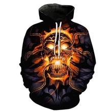 Skull Hoodies Men Women Sweatshirts 3D Print Hoodie Long Sleeve Hooded Pullover Hip Hop Streetwear Halloween Cosplay Clothes