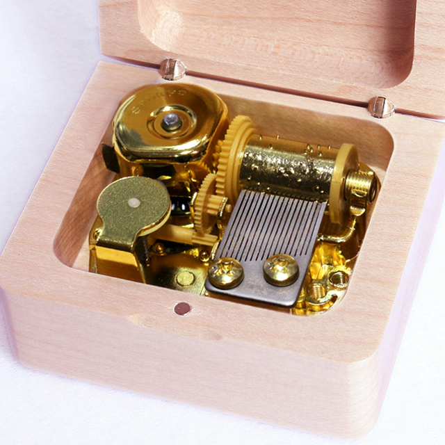 Wooden Wind-Up Music Box