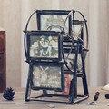Retro roda Gigante da tabela photo frame criativo moldura moinho de vento conjunto decorativo pode girar 360 graus
