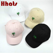 Casual unisex palm tree papa hut einstellbar baumwolle coconut baum baseball cap hip hop frauen sommer snapback hut(China)