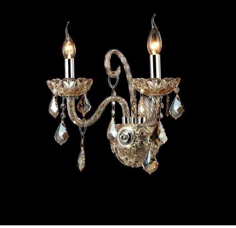 ФОТО Crystal K9 Wall Lights Lamps Fashion luxury quality candle crystal wall lamp bedside lighting lamps light