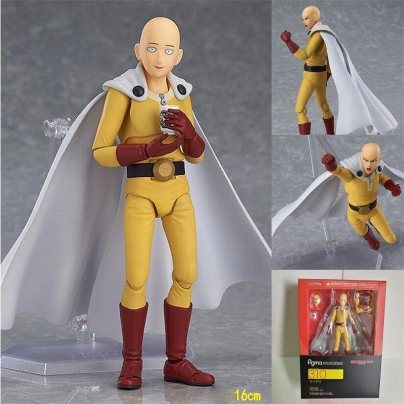 One Punch Man Saitama Variant Action Figure 310# Variable Saitama Sensei PVC figure Toy Anime 16CM in box