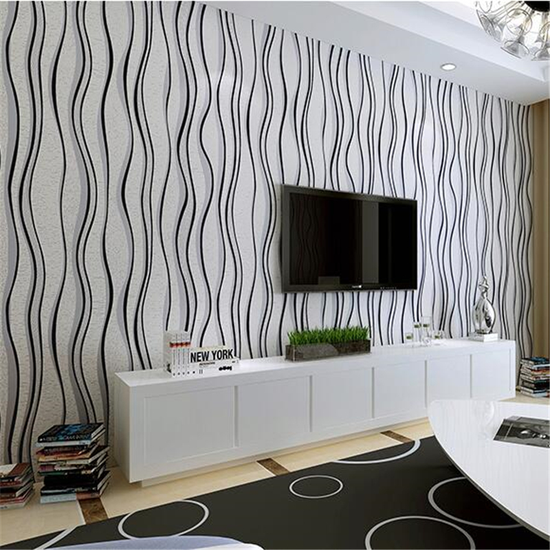 Beibehang Black And White Striped Wallpaper Modern Simple Nonwovens Bedroom Living Room Tv Background In Wallpapers From Home