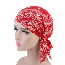 2019 new Womens Indian Hat Muslim Ruffled Cancer Makeup Cap Peas Scarf Chemo Beanie Turban Head Wrap 4.15