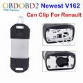 Factory Price For Renault Can Clip V162 Best Chip OBD2 Auto Diagnostic Tool For Renault Multi-Languages Can Clip DHL Free