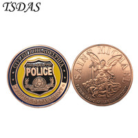High Quality Gold Plated Coin Philadelphia Police Department Challenge Coin With Plastic Case For Souvenirs And Gifts