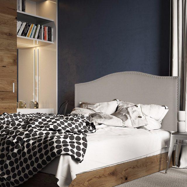 Tienda Online Langria reina completa nailhead Lino lujo tapizado ...