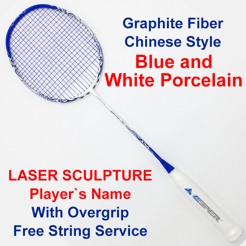 High Quality Badminton Rackets Carbon Fiber 4U Super Light 30LBS Graphite Racquets With String Professional Offensive For Adult professional offensive full carbon fiber badminton single racket super light 5u racquets with stringing and gift box q1256cmc