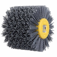 80 Grit 100*120mm Abrasives Wire Brush Wheel for 9741 Wheel Sander Furniture Polishing Grinding Buffing Wheel Woodworking Tools
