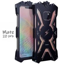 Boîtier en métal antichoc de luxe pour Huawei Mate 20 Pro étuis de téléphone en aluminium Zimon dorigine pour Huawei Mate 20/Mate 20X