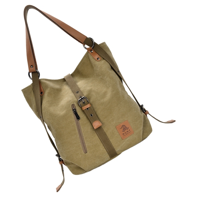 Women Fashion Casual Canvas Multifunctional Messenger Bag 5