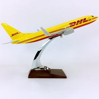 30CM 1:230scale Boeing B737 800 Model DHL Express Delivery Airline with Base Alloy Aircraft Plane Collectible Home Collection