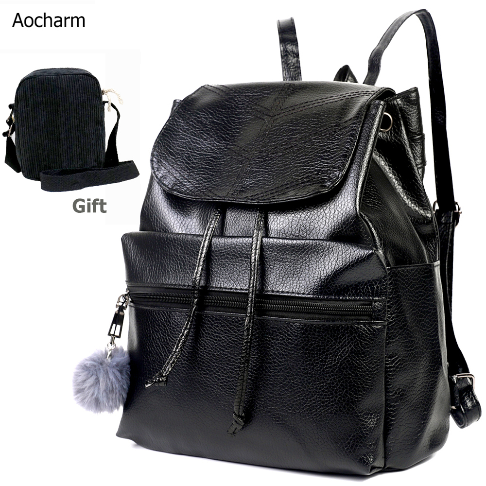 PU Leather Backpack Women Anti Theft Backpack Backpack For Girls Ladies Female Bag Feminina Backpacks Back Pack Casual