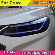 Doxa רכב סטיילינג ראש מנורת עבור חדש שברולט Cruze 2017 2018 LED פנס DRL Q5 Bi קסנון עדשה גבוהה נמוך Beam חניה