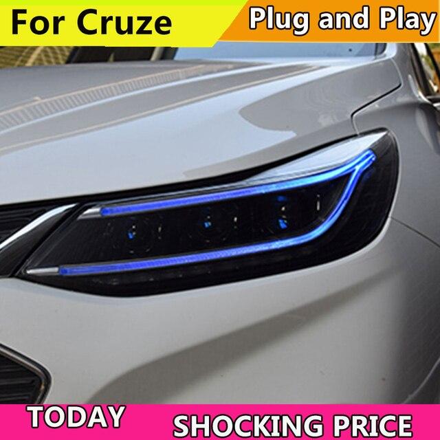 Doxa, faro delantero para coche, para nuevos faros Chevrolet Cruze 2017 2018, faro LED DRL Q5, lente de Bi Xenon, estacionamiento de luz alta y baja