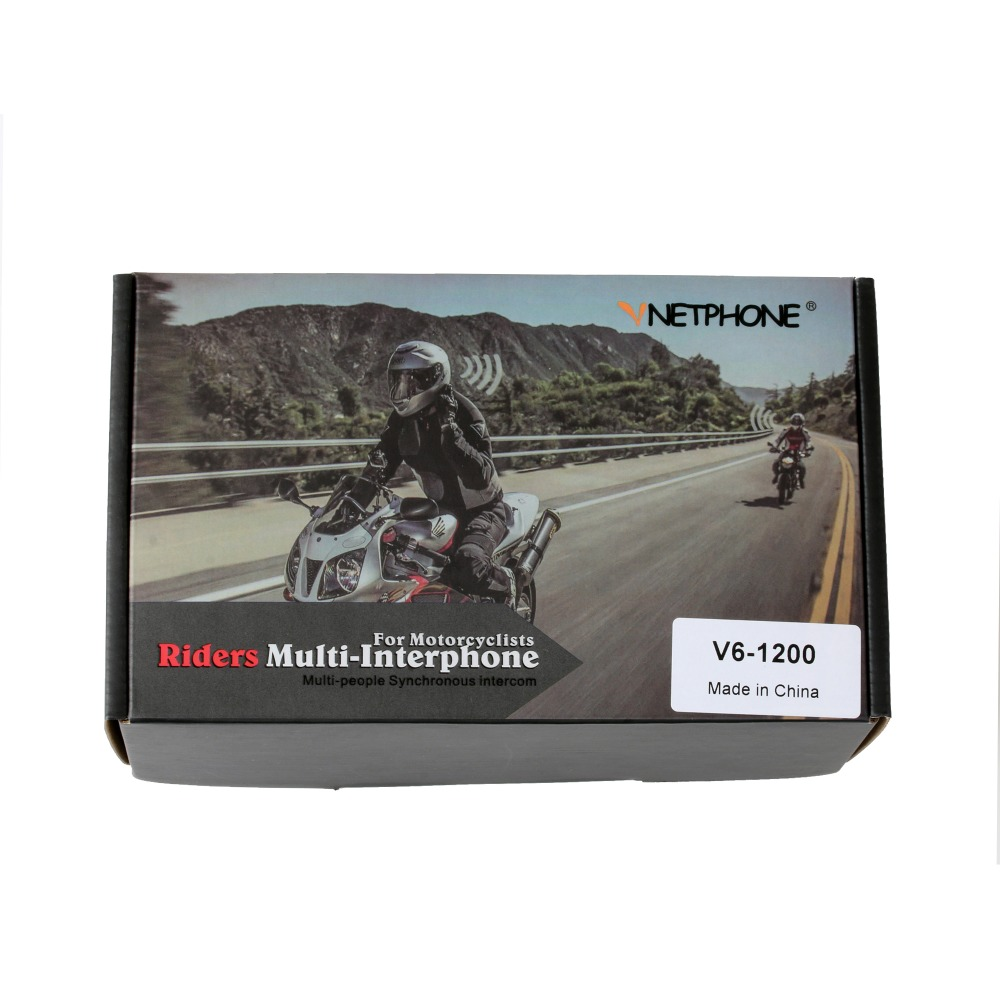 Image 5 - Vnetphone V6  BT Interphone 1200M Motorcycle Bluetooth Helmet Intercom intercomunicador moto interfones headset for 6 Riders-in Helmet Headsets from Automobiles & Motorcycles