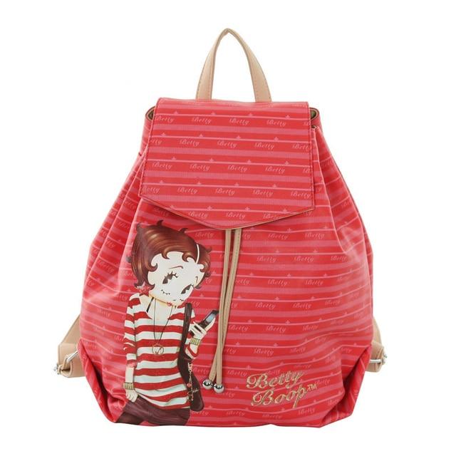 Betty Boop Stripe Cartoon Female Fashion Bag Handbags 4betty Handbag Bags Kanken