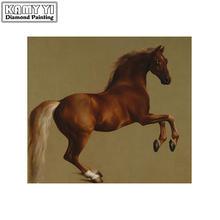 Алмазная живопись «сделай сам» вышивка крестиком лошадь круглая