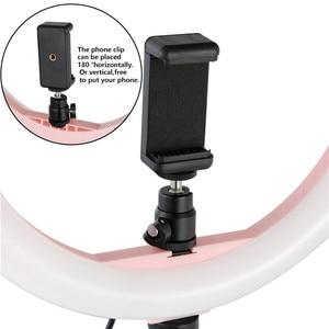 """Image 2 - 12 """"LED anneau lumière photographie Dimmable anneau lampe pour vidéo en direct ringlight avec trepied ue/US avec 110CM trépied support + 2 sac"""