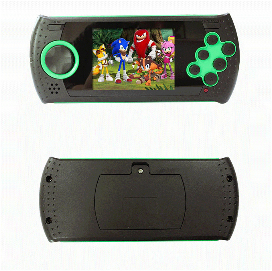 New MD 16 Portable 3 Inch 16 Bit Handheld Game Console Mp4 Players Game Consoles Build In 100 Classic Games MP4 Game Player