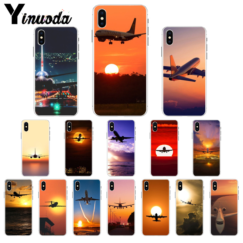 US $0 77 29% OFF|Yinuoda Airplane At The Sunrise aircraft plane Soft TPU  Phone Case for iPhone 6S 6plus 7 7plus 8 8Plus X Xs MAX 5 5S XR-in