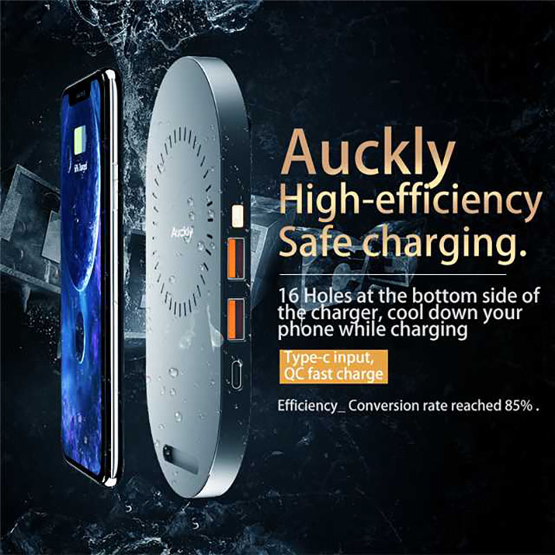 Auckly 7.5W Qi Quick Wireless Charger 2 In 1 Fast Charging Pad Stand Mat Dock For iPhone 8/8 Plus/Samsung S9/S9 Plus/Xiaomi(China)