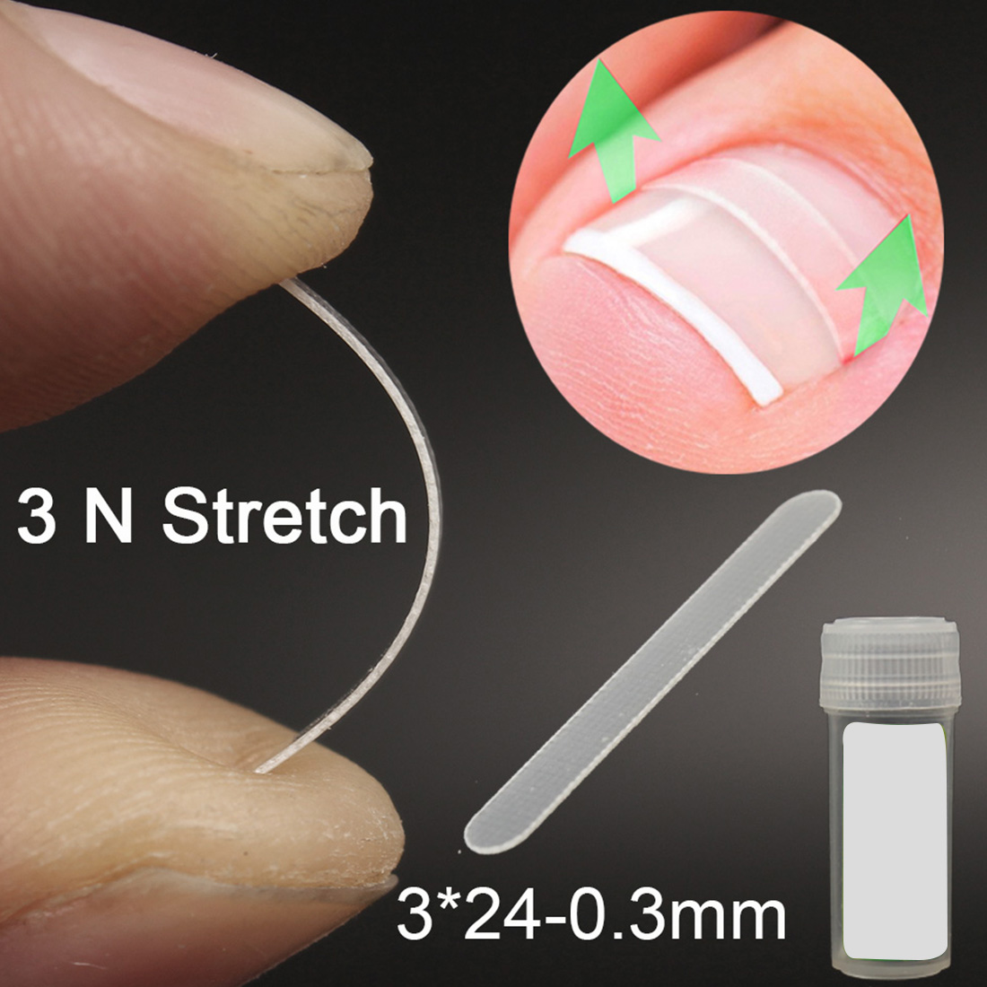 10pcs Ingrown Toenail Correction Tool Ingrown Toe Nail Treatment Elastic Patch Sticker Straightening Clip Brace Pedicure Tool