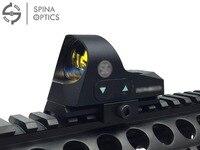 SPINA OPTICS Mini 1x25 Tactical Hunting Scopes Rifle Reflex Sight 3 Red Dot Shockproof Firearm Shot