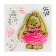 Beautiful Bunny Princess Rubber Stamp for DIY Scrapbooking/photo Album Decorative Craft Clear Stamp Chapter