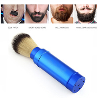 Wholesale Metal Handel Badger Hair Aluminium Alloy Handle Travel Shaving Brush for Men Beard Shave Barbershop Brush