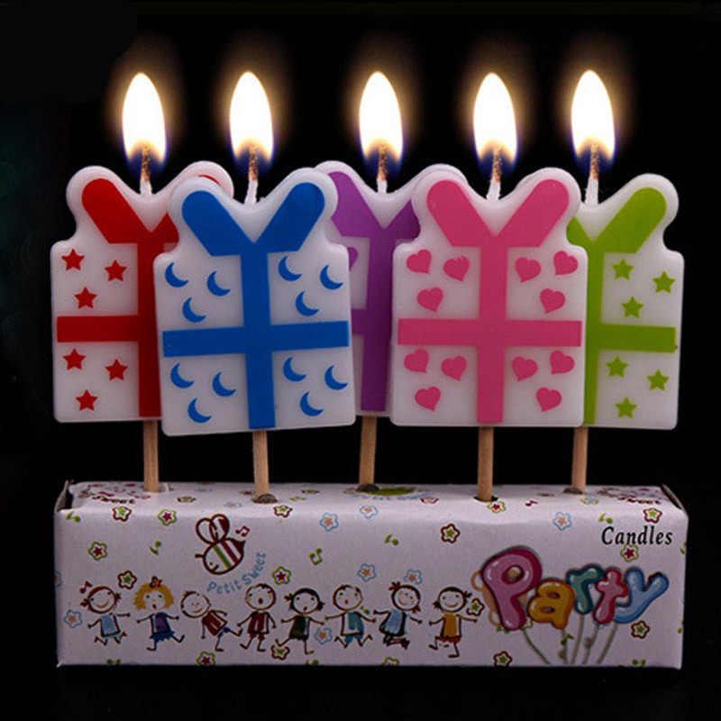 5 pçs bonito frutas espaço navio arco-íris ônibus de futebol carro arte sem fumaça vela para o menino menina festa de aniversário suprimentos bolo topper