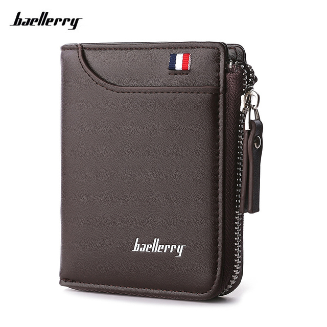 cdc930410e7e Baellerry Men Wallet designer's Leather Card Holder Short Wallet Luxury Man  Purse Brand Card Case Casual Standard Wallets
