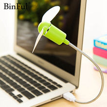 BinFul Mini USB ventilateur gadgets Flexible Cool pour ordinateur portable PC portable de haute qualité pour ordinateur portable ordinateur de bureau ordinateur(China)