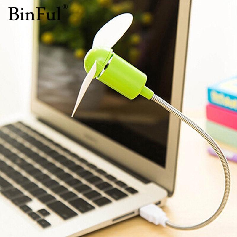 BinFul Mini USB Fan gadgets Flexible Cool For laptop PC Notebook high quality For Laptop Desktop PC Computer binful high speed 4