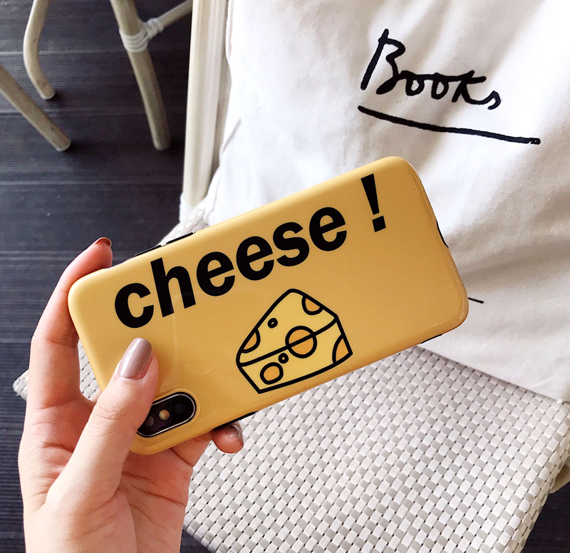 Cheese English for 8plus Apple iphone X Mobile Shell iPhone7plus/8/6s Fresh girl Cute Soft shell Smooth phone back cover