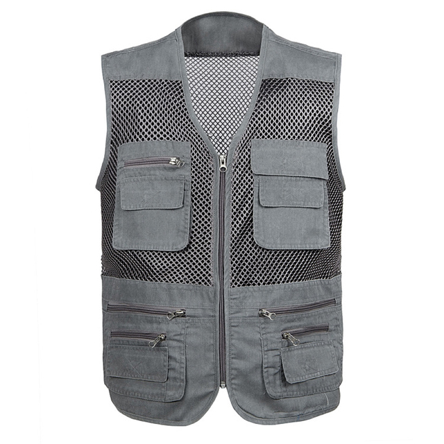 Men Vest Professional Photography Cameraman Reporter Vest Military Tactical Paintball Mesh Vest Quick Drying Hunt Waistcoat