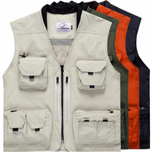 Multi-Pocket Mesh Fishing Vest Outdoor Photography Waistcoat Customizable Team Clothes Hunting Fishing Jacket chaleco de pesca