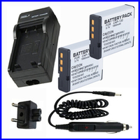 Battery 2 Pack And Charger For Casio Exilim EX ZR500 EX ZR700 EX ZR800 EX ZR1000