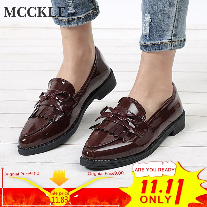 2637bdb07fe ... Low Heels Fashion Bowtie Platform Female Autumn Shoes Fringe Chunky Heel  Flat Shoe Casual Footwear Oxford Shoes. -34%. Click to enlarge