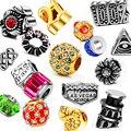 Reamor eorupean de aço inoxidável de cristal antigo contas encantos grande buraco beads encantos fit pandora diy pulseira colar de jóias