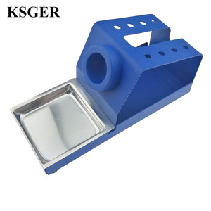 Image 1 - KSGER  DIY T12 Holder Soldering Iron OLED Station Stand FX9501 Handle Welding Iron Tips STC STM32 Aluminum Alloy Tools