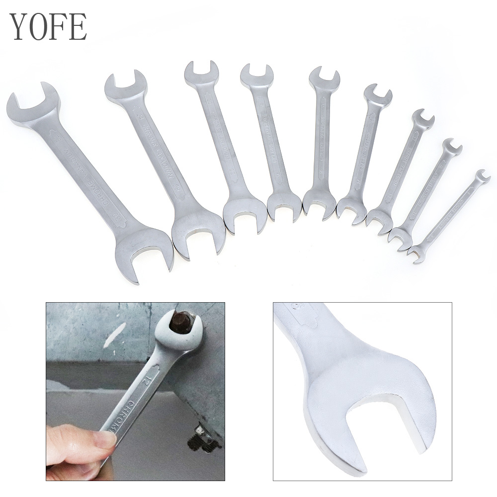 YOFE 9pcs 8mm-32mm Combination Spanner Set Professional Ratchet Wrench Tool for Installation / Maintenance atomic force into a professional level tool wrench spanner more specifications