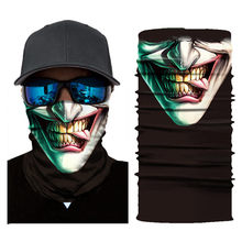 Motorcycle Face Mask Cycling Halloween Head Scarf Neck Warmer Skull Ski Balaclava Headband Scary Face Shield Mask Outdoor 2019(China)