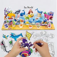 New 3D Puzzle Graffiti Drawing Puzzles Stickers EVA Building Puzzle Toys For Kids Sand Board Game