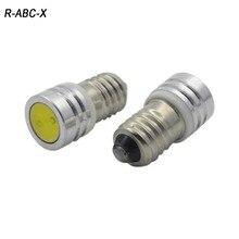 цена на 2X 1W High quality DC3V 6V 12V E10 COB Led Warning Signal Indicating Lamp 3V Pilot lamp Instrument Light pinballs Bulbs