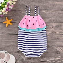 MUQGEW 2018 Hot Sale Cute Toddler Baby Girls Swimwear Lovely Watermelon Striped Swimsuit Bathing Beach Romper Jumpsuit(China)