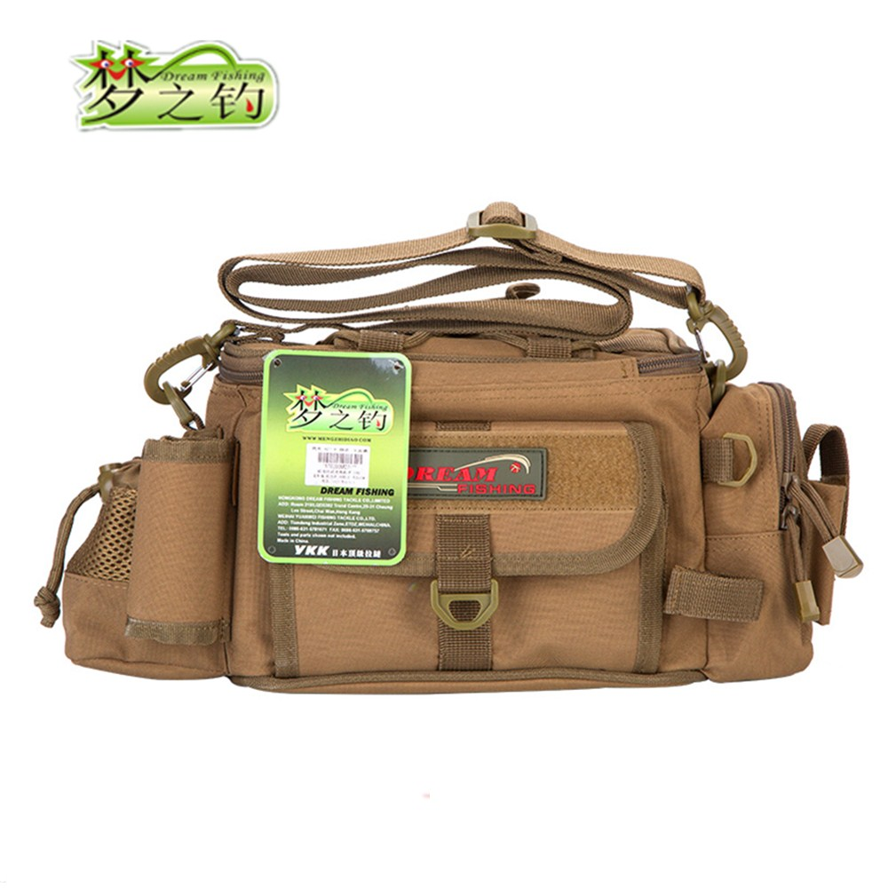 Large Capacity Multifunctional Fishing Bag 37 11 5 16cm 1200D Waterproof Nylon Bag Bolsa De Pesca